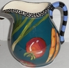 Teal Vegetable Round Pitcher