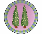 Trees/Double Pine - Unrimmed Salad Plate