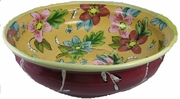 Tropical Flower Low Round Bowl