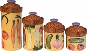 Vegetable Soup Canister Set of 4