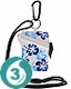 Waterproof Card Case - Blue Flower