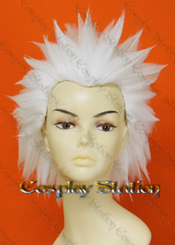 Ace Attorney Phoenix Wright Godot White Cosplay Wig