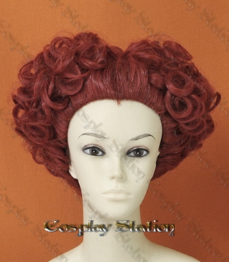 Alice in Wonderland Red Queen Custom Styled Cosplay Wig