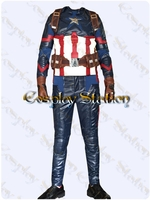 Captain America 3 Civil War Captain America Custom Made Cosplay Costume: High Quality!