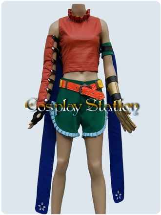 "Final fantasy X-2 Rikku Commission Cosplay Costume_<font color=""red"">New Arrival!!</font>"