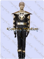 Power Rangers Black Dino Ranger AbareBlack Cosplay Costume