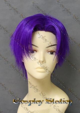 Rurouni Kenshin Shinomori Aoshi Custom Made Cosplay Wig
