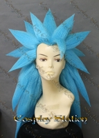 SSJ3 GOD Goku Blue Custom Made Cosplay Wig