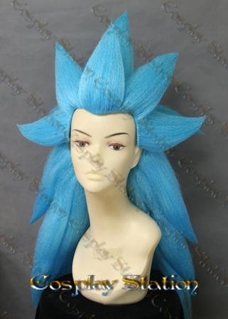 SSJ3 God Vegeta Blue Custom Made Cosplay Wig