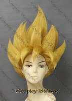 Super Saiyan Goku Custom Made Cosplay Wig