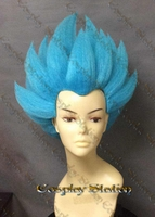 Vegeta Blue Custom Styled Cosplay Wig