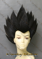 Vegeta Custom Styled Black Cosplay Wig