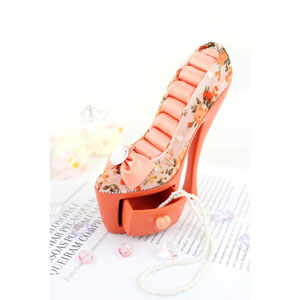 Bella Rosa Shoe Ring Holder With Drawer Coral
