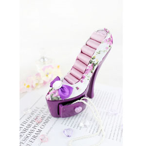 Bella Rosa Shoe Ring Holder With Drawer Purple