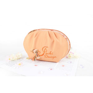 Bella Rosa Top Round Cosmetic Bag Coral