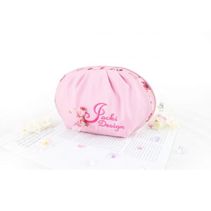 Bella Rosa Top Round Cosmetic Bag Pink