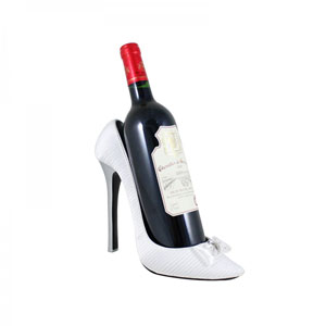 Bridal Satin Shoe Wine Bottle Holder