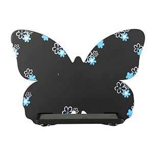 Butterfly Cell Phone Holder Wood Stand Black