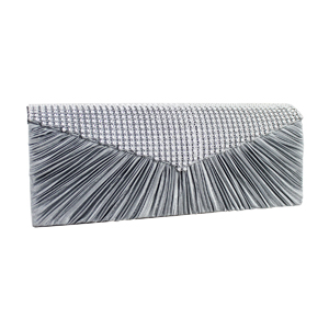 Crystal Beads Evening Purse Collection Silver
