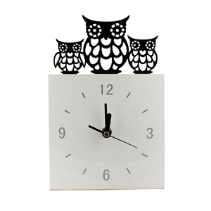 Cut Out Owl Standing Clock