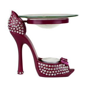 Diamond Collection Heeled Shoe Oil Burner Fuchsia