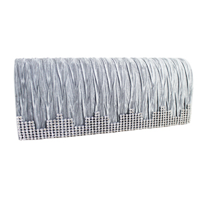 Elegant Shimmering Evening Purse Collection Silver