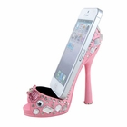 Gem Embellished Shoe Cell Phone Holder Pink (JUST RESTOCKED)