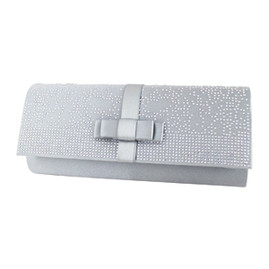Glittering Beads Evening Purse Collection Silver