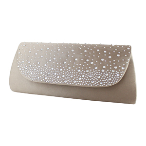 Glittering Evening Purse Collection Beige