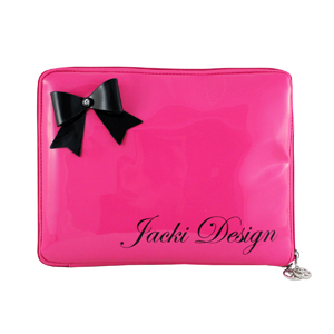 Mademoiselle iPad Sleeve Hot Pink