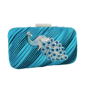 Peacock Clutch Evening Purse Turquoise