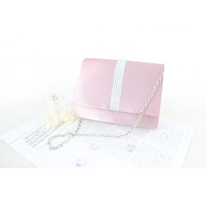 Petite Crystal Evening Purse Pink