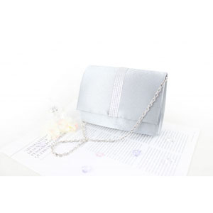 Petite Crystal Evening Purse Silver