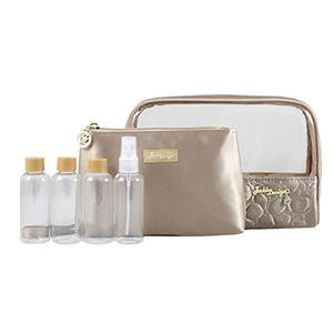 Retro Chic 6pc Travel Set Champagne