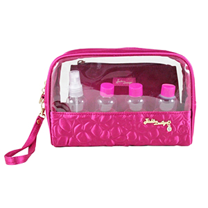 Retro Chic 6pc Travel Set Hot Pink