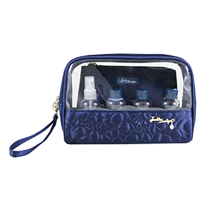 Retro Chic 6pc Travel Set Navy Blue