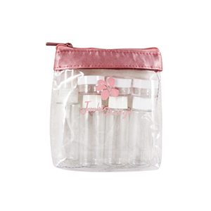 Retro Chic 8pc Travel Bottle Set Blush