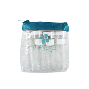 Retro Chic 8pc Travel Bottle Set Turquoise