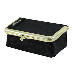 Retro Chic Clasp Cosmetic/Jewelry Bag Black