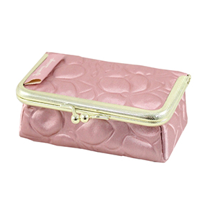 Retro Chic Clasp Cosmetic/Jewelry Bag Blush