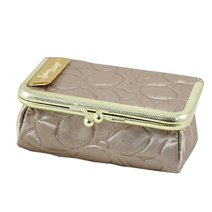 Retro Chic Clasp Cosmetic/Jewelry Bag Champagne