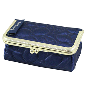 Retro Chic Clasp Cosmetic/Jewelry Bag Navy Blue