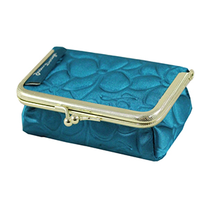 Retro Chic Clasp Cosmetic/Jewelry Bag Turquoise