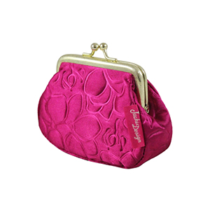 Retro Chic Coin Purse Hot Pink