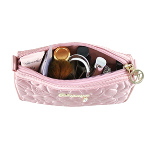 Retro Chic Compact Cosmetic Bag Blush