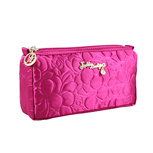 Retro Chic Compact Cosmetic Bag Hot Pink