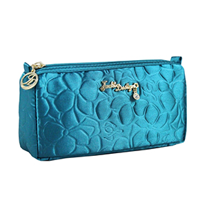 Retro Chic Compact Cosmetic Bag Turquoise