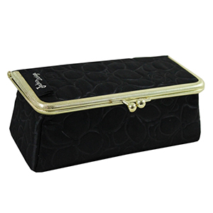 Retro Chic Cosmetic Bag/Eyeglass Case Black