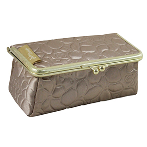 Retro Chic Cosmetic Bag/Eyeglass Case Champagne