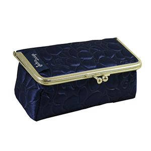 Retro Chic Cosmetic Bag/Eyeglass Case Navy Blue